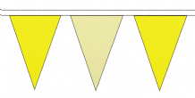 YELLOW AND BEIGE TRIANGULAR BUNTING - 10m / 20m / 50m LENGTHS